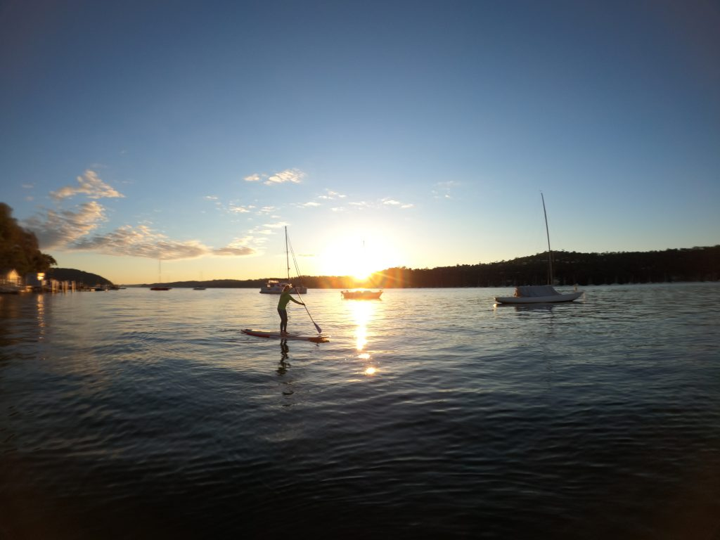 Ecotreasures sunrise SUP Club Pittwater