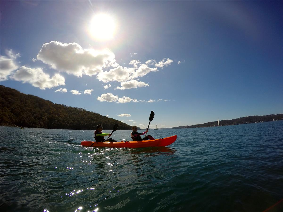 EcoTreasures Sydney Pittwater kayaking tours