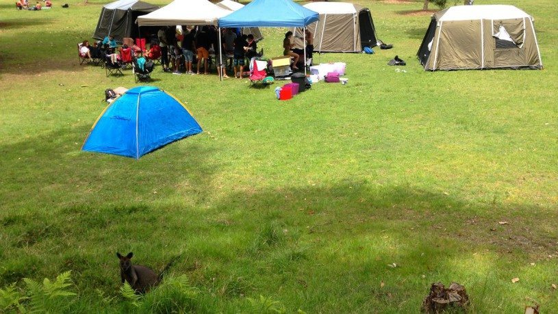 We can also provide tent set up if you don't want to set it up yourself. We offer the tent set up and pack down service at the Basin Campground, Ku-ring-gai Chase National Park. Quotes available for tent set up and pack down.