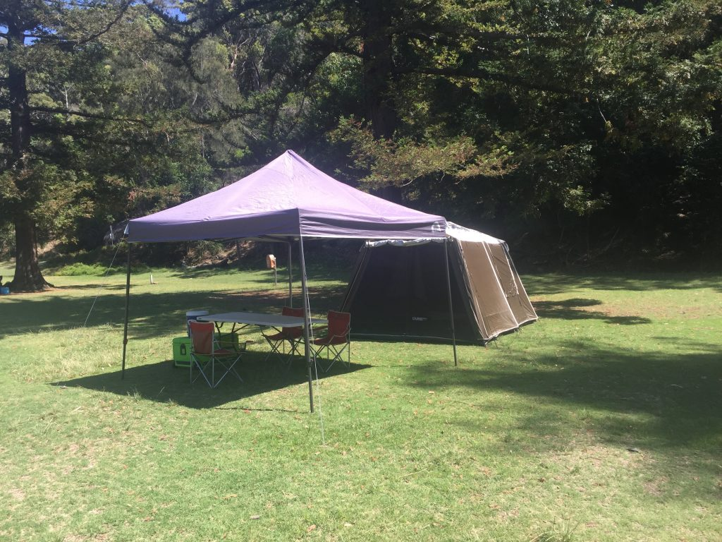 Deluxe Camping Experience Sydney - Basin campsite set up service