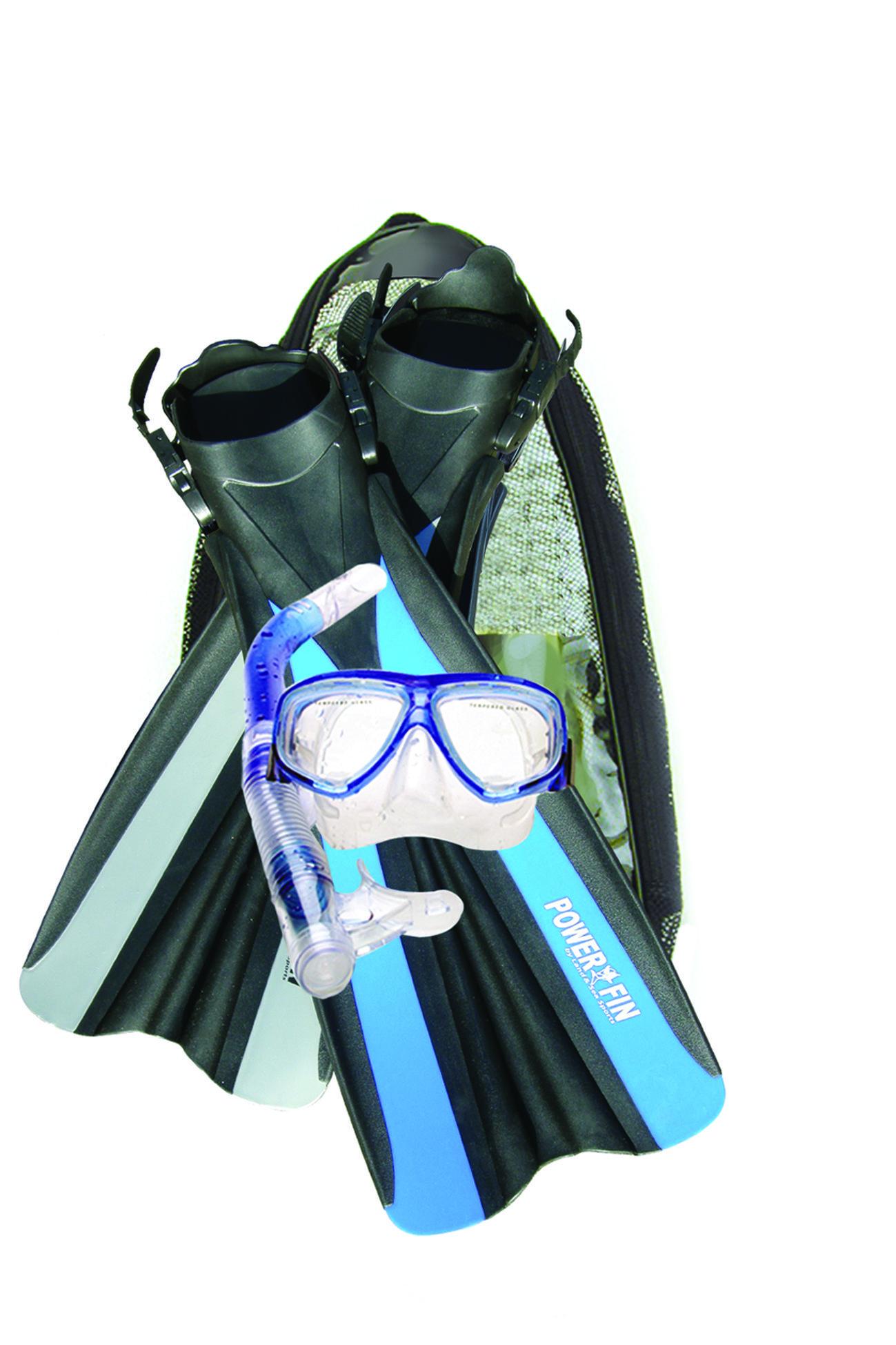 snorkel mask and fins divers-set-complete-snorkel-pack