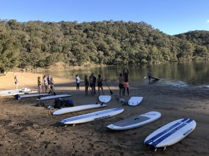 paddle boarding sydney with ecotreasures