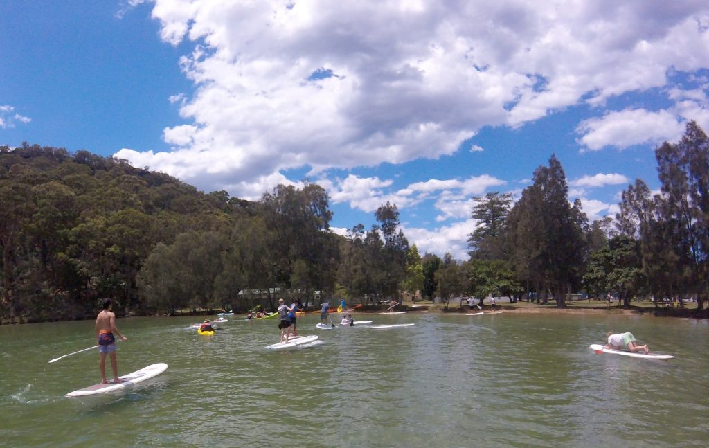 Paddle board and kayak at the Basin