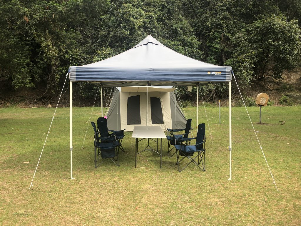 Narrabeen Caravan park deluxe camping set up